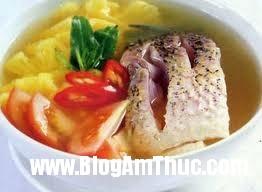 ca chep nau dua1 0 Công thức chế biến món canh cá chua cá chép