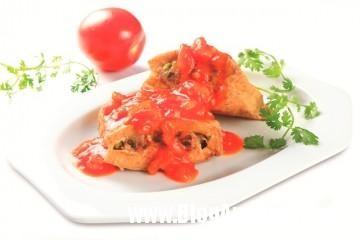 41c31 Đậu phụ dồn thịt xốt cà chua