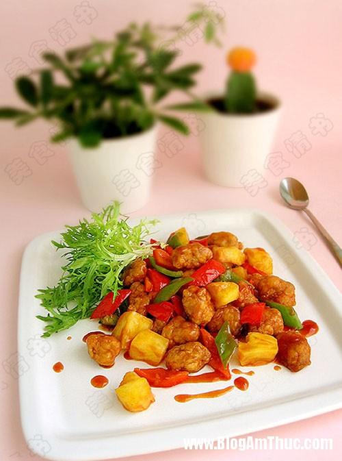 phuongntt201155233531761 71 0 Thịt chiên sốt dứa