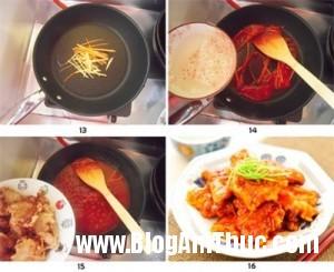 thitheochiengionxotchuangottuyetngon c8a5a1 300x245 Cách làm món thịt heo chiên giòn xốt chua ngọt