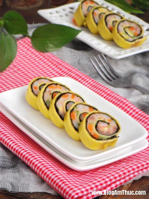 trung cuon tom dep mat ngon mieng nhu sushi1 Trứng cuộn tôm