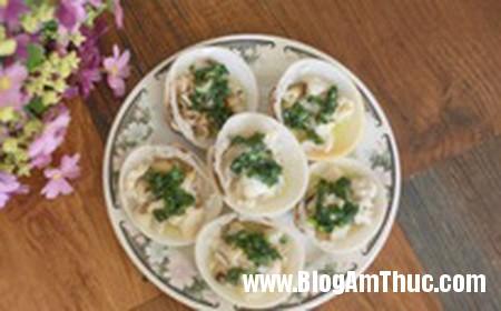 117 Món sò dương nướng mỡ hành