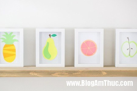 626 Trang trí phòng bé với bức tranh trái cây ngộ nghĩnh