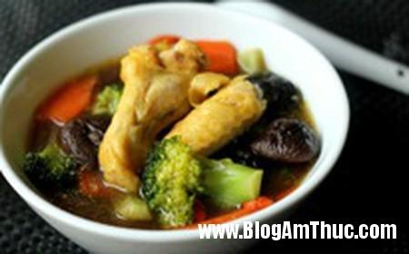 189 Canh gà nấm hương tốt cho sức khỏe