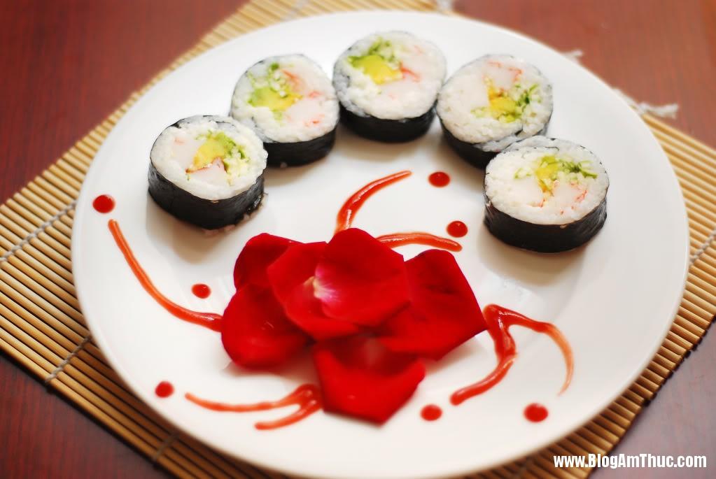 Cach lam sushi ngon du vi 2 Học cách làm sushi ngon đủ vị tại nhà