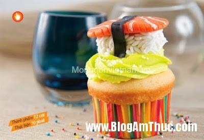 Cupcake+si rô+chanh Cách làm Cupcake si rô chanh
