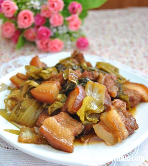 Mon thit kho dua cai ngon mieng 11 Cách nấu món thịt kho dưa cải