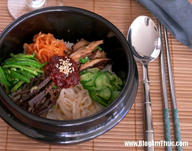 com tron han quoc Đổi khẩu vị với cơm trộn chay kiểu Hàn