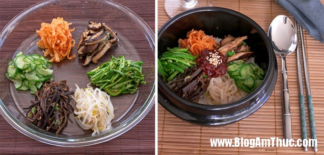 com tron han quoc11 Đổi khẩu vị với cơm trộn chay kiểu Hàn
