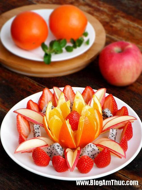 huong dan cach bay hoa qua hap dan va dep mat 1 Cách xếp trái cây ra dĩa hấp dẫn và đẹp mắt