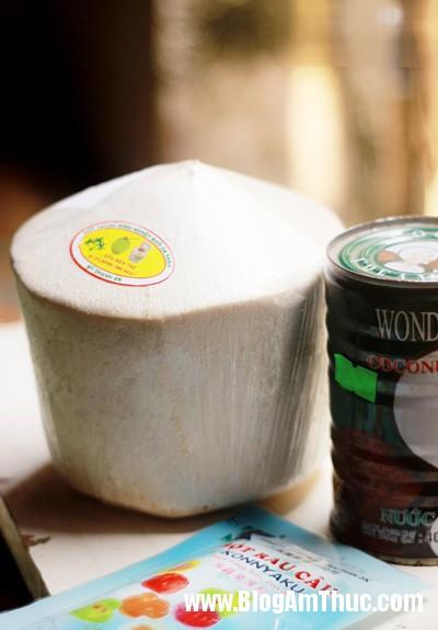 rau cau trai dua 01 Thạch rau câu trái dừa   giải nhiệt ngày hè