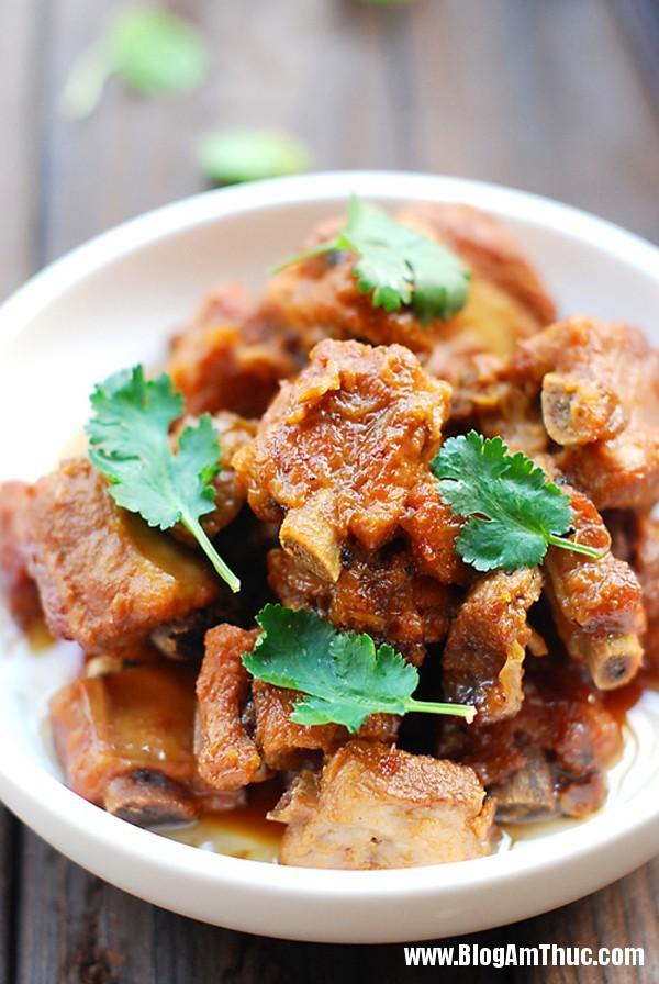suon kho duong phen thom ngon kho cuong 11 Ngon cơm với sườn kho đường phèn