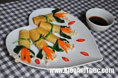 tau+hu+ky Cách làm Tàu hũ ky cuộn rau củ