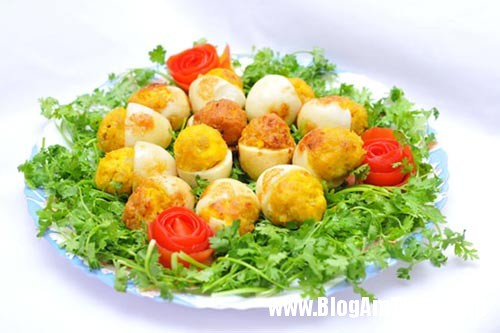 168 Trứng nhồi thịt   Đơn giản mà ngon
