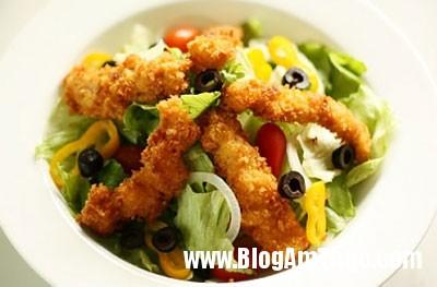 lam mon salad ga chien tuyet ngon 9 3 Món salad ngon dễ làm