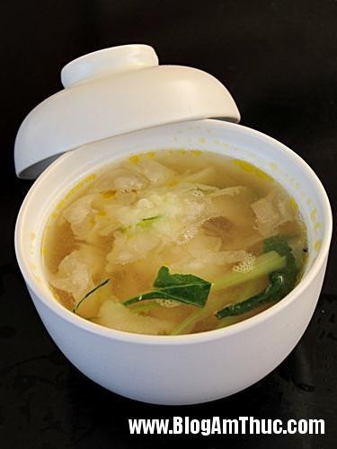 supthachluu Chế biến súp thạch lựu hải sản