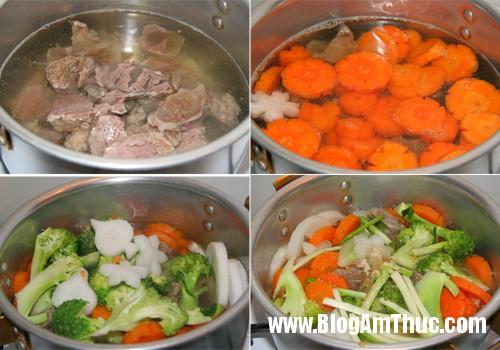 gan bo rau cu qua 3 Cách nấu soup gân bò rau củ thơm ngon