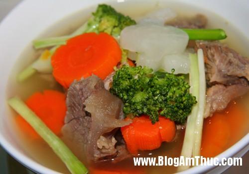 gan bo rau cu qua 4 Cách nấu soup gân bò rau củ thơm ngon