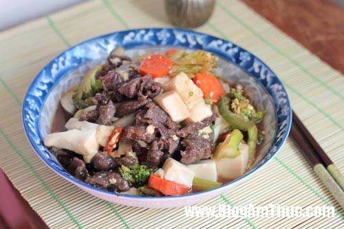 thit bo sot dau phu non Công thức cho món thịt bò sốt đậu phụ non