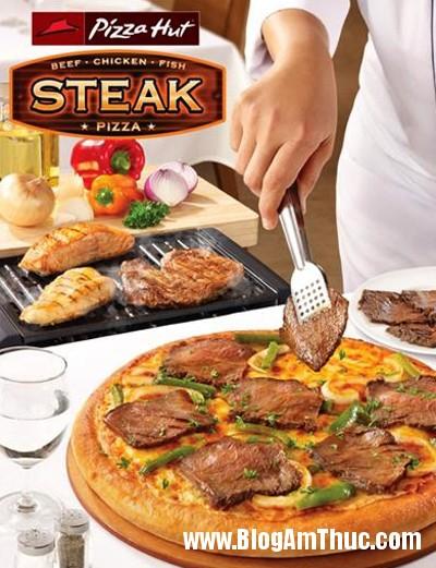 thuong thuc mon pizza thit nuong2 Pizza thịt nướng mới lạ ở Pizza Hut