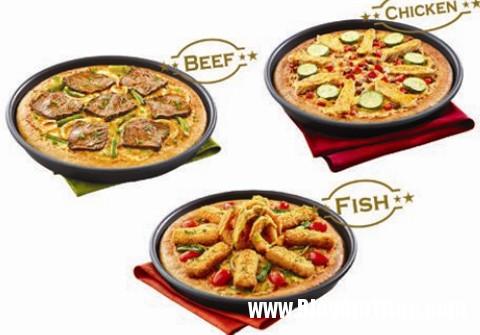 thuong thuc mon pizza thit nuong3 Pizza thịt nướng mới lạ ở Pizza Hut