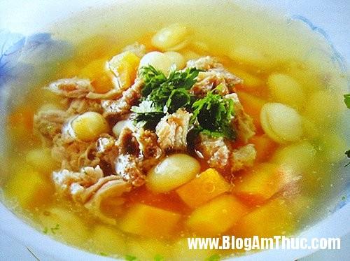 xuong ham khoai lang nuoc dua xiem Canh xương hầm khoai lang nước dừa xiêm bổ dưỡng