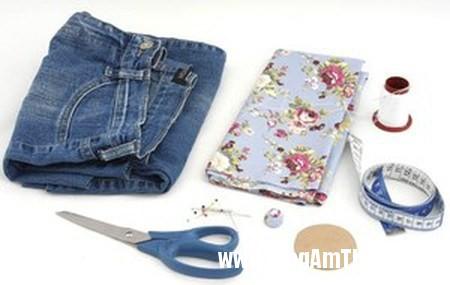 Bien quan jeans cu thanh tui xinh doc dao 2 Khéo tay may túi đẹp từ chiếc quần jean cũ