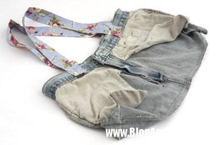 Bien quan jeans cu thanh tui xinh doc dao 6 Khéo tay may túi đẹp từ chiếc quần jean cũ