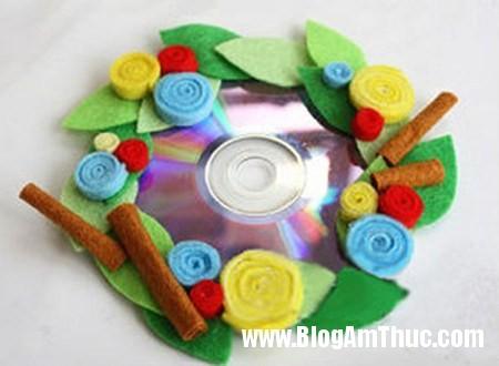 Dep mat voi khung anh duoc lam tu dia CD 7 Khung ảnh sinh động từ đĩa cd