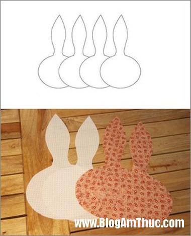 Kheo tay may tui thom hinh dau chu tho xinh xan 2 May túi thơm hình đầu thỏ thật xinh