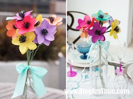 Lam hoa giay xinh xan dang yeu toi bat ngo 6 Khéo tay làm bông hoa giấy thật xinh xắn và vô cùng đáng yêu
