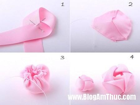 Trang tri day buoc toc cho be bang hoa ruy bang that xinh 6 Làm hoa ruy băng trang trí dây buộc tóc thật xinh