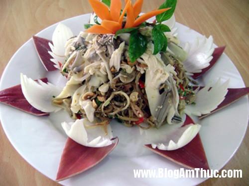 mon ngon nom chuoi Bắp chuối   Nguyên liệu trong các món ăn của người Huế
