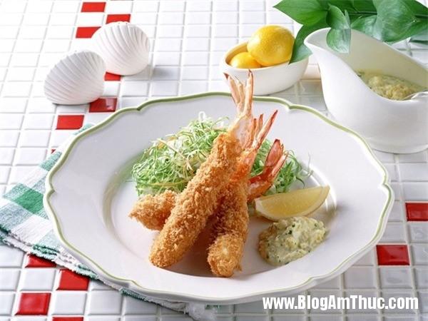 tempura tom gion 7 Giòn ngon món tempura tôm