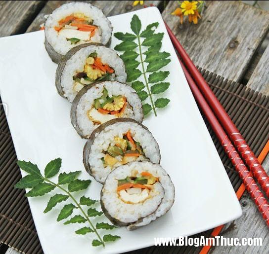 cach lam sushi chay Cách làm sushi chay đẹp mắt cho cả nhà thưởng thức
