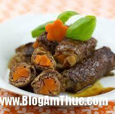 chỉ mục Lạ miệng với món thịt bò cuộn cà rốt đầy hấp dẫn