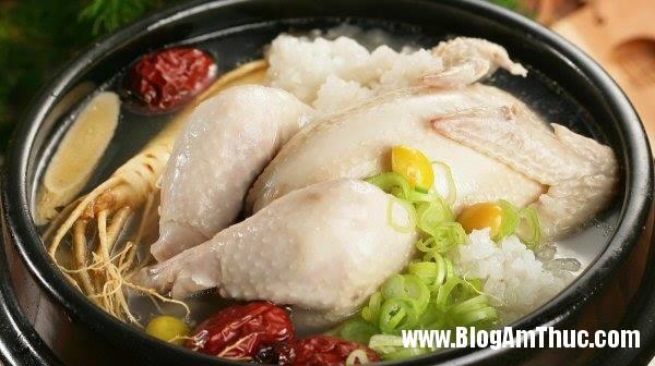 cach lam ga ham sam 1 Hướng dẫn cách làm món gà hầm nhân sâm bổ dưỡng