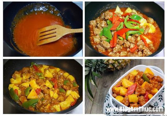 photo 3 1491792416176 Cách nấu thịt chiên giòn sốt dứa đậm đà đưa cơm