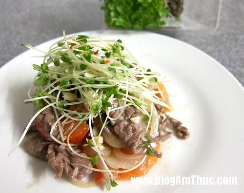 cach lam mon salad rau mam ngon thuc don giam can Salad rau mầm trộn thịt bò thích hợp cho bữa cơm ngày nắng nóng
