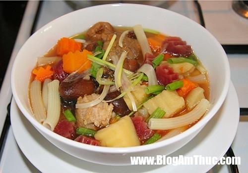 canh nui Canh nui nấu sườn hầm củ ngọt ngon hấp dẫn
