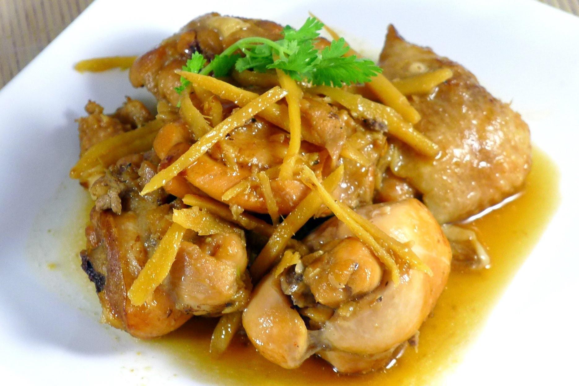 ginger chicken ga kho gung Cách làm gà rim mềm ngọt bảo đảm ăn là hết cơm