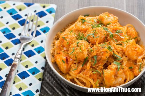 7394d3a6161a6c6f8ccde43191c629b2 Bửa sáng hấp dẫn với Spaghetti xốt tôm
