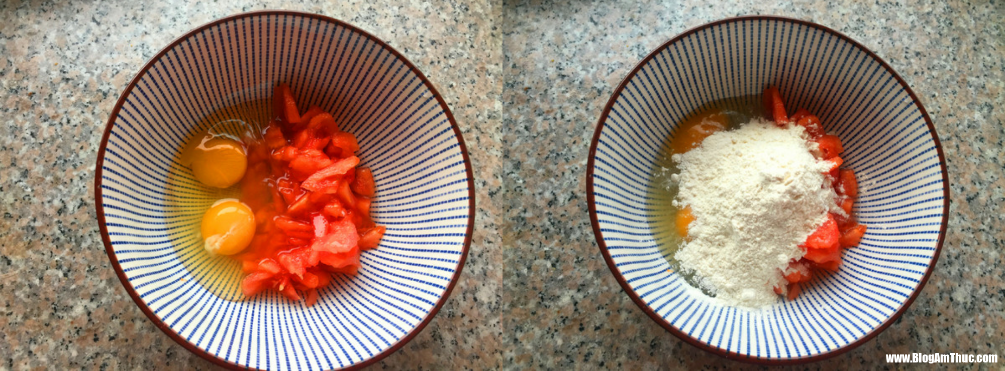banh trung ca chua 2 1528699141504654156236 Vào bếp với bánh trứng chiên cho bữa sáng!