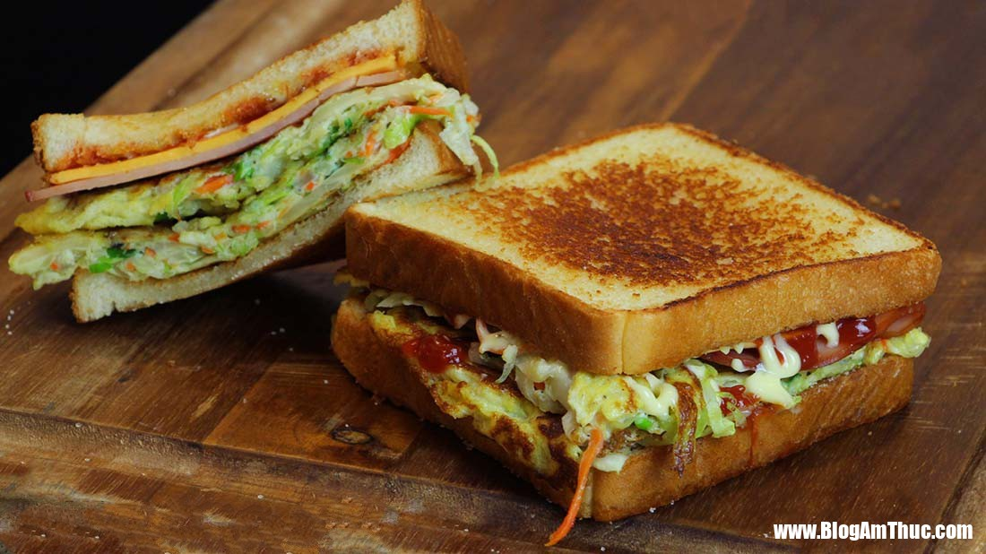 """sandwich sp2 1532942778430685343583 Cách làm sandwich kiểu Hàn   món ăn đường phố """"hút"""" khách du lịch nước ngoài"""