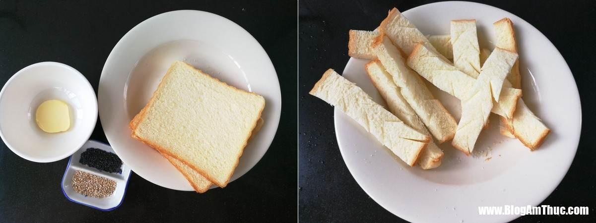 banh mi chien gion 1 153494204187122545598 Vào bếp với bánh mì chiên bơ vừng giòn rụm thơm ngon