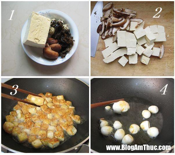 1 15450599539321920498782 Các bước cụ thể nấu nấm hương chiên đậu phụ