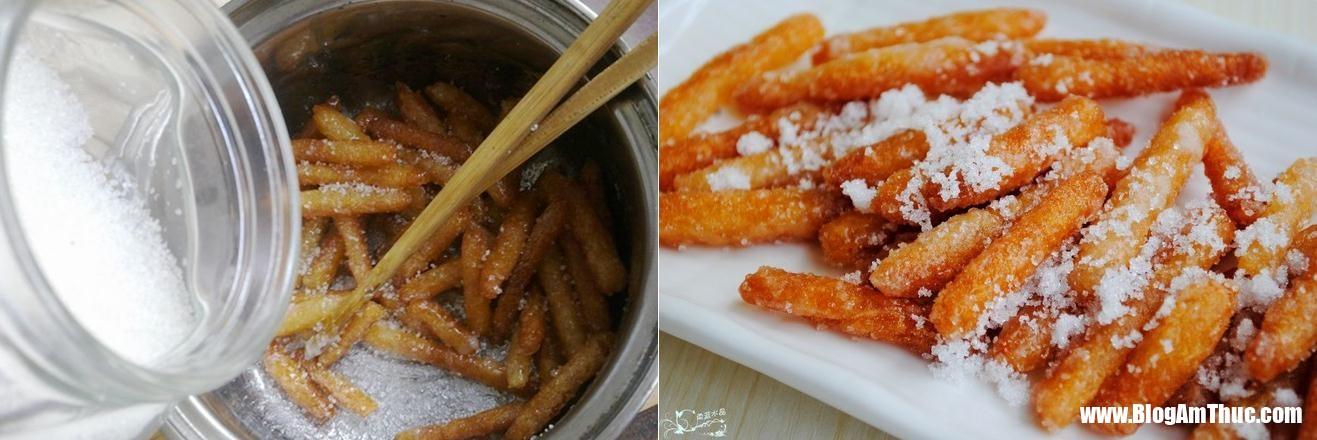 banh nep boc duong 5 1546019724246355213251 Chỉ với bột gạo nếp và đường đã có thể làm món bánh ăn vặt giòn tan
