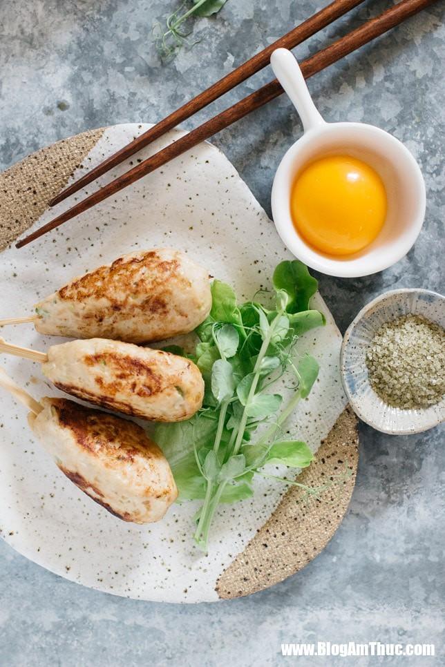 chicken tsukune 2 9 15457530188711097064317 Chả gà: Món mẹ thích làm, con rất thích ăn