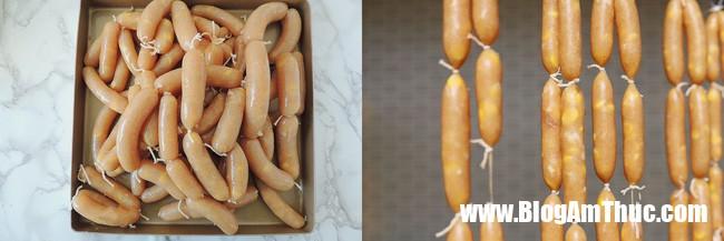 xuc xich ga 4 15489301937898423683831 Cách làm xúc xích tại nhà với nguyên liệu chính là gà